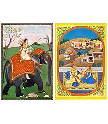 Ragini and Rajput Couple Postcards