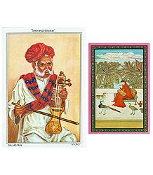 Buy Sarangi Player and Ragini Postcards