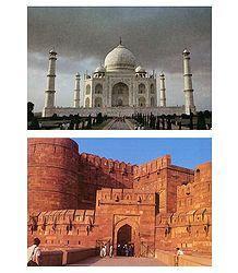 Shop Online Taj Mahal and Agra Fort Postcards