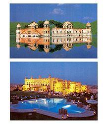 Jal Mahal and Khimsar Fort Hotel at Rajasthan