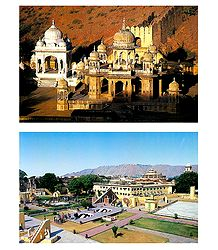 Gaitor and Jantar Mantar, Jaipur - Set of 2 Postcards
