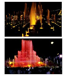 Vrindavan Garden, Mysore - Set of 2 Postcards