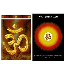 Hindu Symbol Om - Set of 2 Postcards