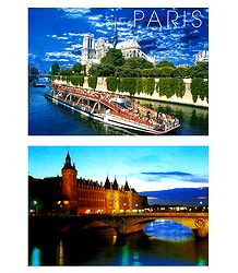 Notre Dame and Conciergerie, Paris - 2 Postcards