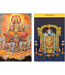 Sun God and Balaji Postcards