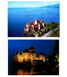 Le Chateau de Chillon, Switzerland - Set of 2 Postcards, Switzerland - Set of 2 Postcards