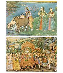 Radha Krishna with Gopinis Pictures
