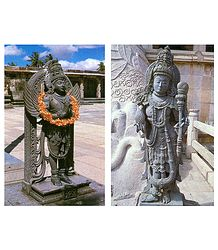 Garuda and Dwarpalaka of Gomateshwara - Set of 2 Poscards