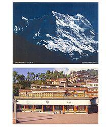Chaukhamba Peak and Rumtek Monastery - Postcards