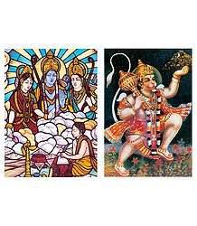 Ram, Lakshman,Sita and Hanuman Postcards