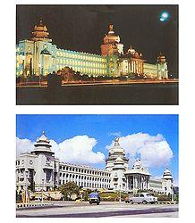Vidhan Soudha, Bangalore - 2 Postcards