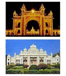 Mysore Palace - 2 Postcards