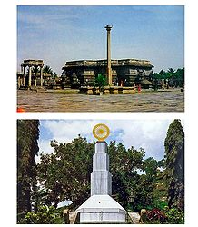 Saravanbelagola and Belur - Set of 2 Postcards