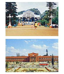 Lalbagh and High Court, Bangalore - 2 Postcards