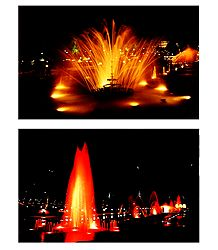 Brindavan Garden, Mysore - Set of 2 Postcards