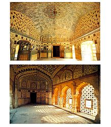 Sheesh Mahal, New Delhi, India - Set of 2 Postcards