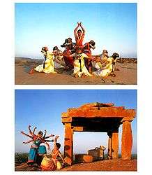 Odissi Dance, India - Set of 2 Postcards