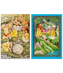 Miniature Painting Reprints Postcards