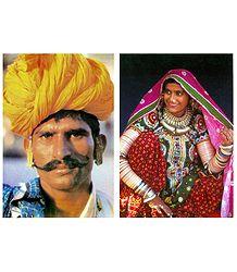 Buy Rajasthani People Postcards