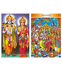 Rama, Sita and Ram Darbar Postcards