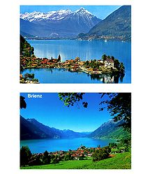 Brienz, Switzerland - 2 Postcards