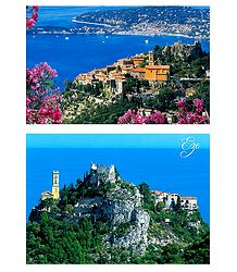 Eze Village, France - 2 Postcards