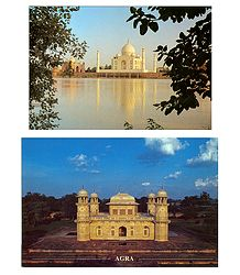 Monuments in Agra Postcards