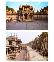 Hatheesing Jain Temple, Ahmedabad - Set of 2 Postcards