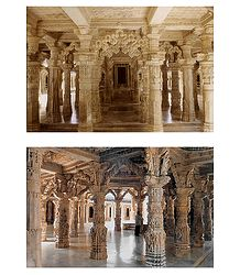 Dilwara Temple, Mt. Abu - 2 Postcards