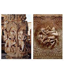 Sculpture of Dilwara Temple, Mt. Abu - Set of 2 Postcards
