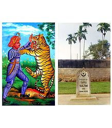 Tipu Sultan and His Grave - Set of 2 Postcards