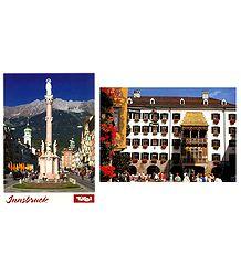 Innsbruke,Austria - Set of 2 Postcards