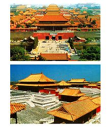 Forbidden City, China - Set of 2 Postcards