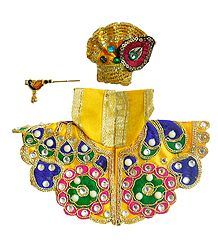 Shop Online Red Dress for 2. 5 Inches Krishna Idol