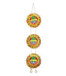 Saffron Paper Chandmala with Om for Deity