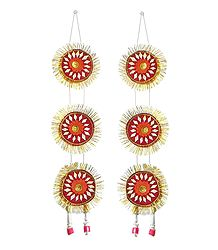 Red with Golden Paper Chandmala for Deity
