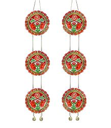 Pair of Paper Chandmala with Om for Deity