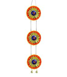 Saffron Paper Chandmala for Deity