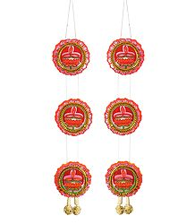 Pair of Paper Chandmala - Accessory to Hang from the Deity's Hands