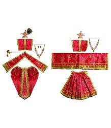 Shringar for 11 Inches Radha Krishna Idols