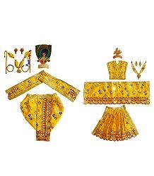 Shringar for 5 Inches Radha Krishna Idols