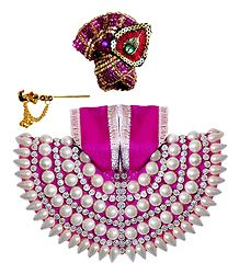 Decorated Dress for 5 Inches Bal Gopal Idol