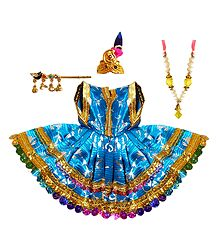 Blue Dress for 6 Inches Bal Gopal Idol