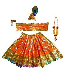 Saffron Dress for 5 Inches Krishna Idol