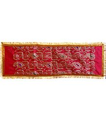 Sequined Paisley on Art Silk Chunni for Matarani