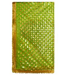 Green Net Chunni for Matarani