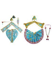 Dresses for 10 Inches Radha Krishna Idols
