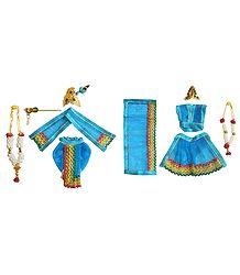 Shringar for 4 Inches Radha Krishna Idols