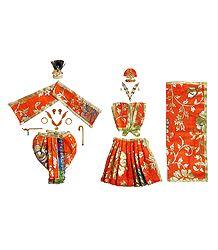 Buy Shringar for 6 Inches Radha Krishna Idols