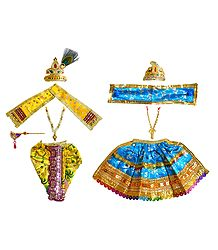 Shringar for 7 Inches Radha Krishna Idols